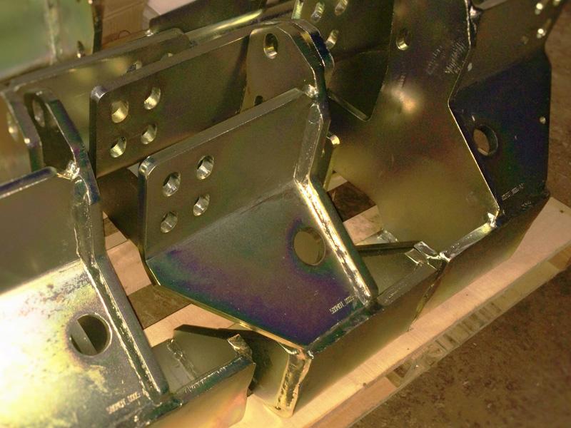 Résultat de placage de grandes pièces d'acier